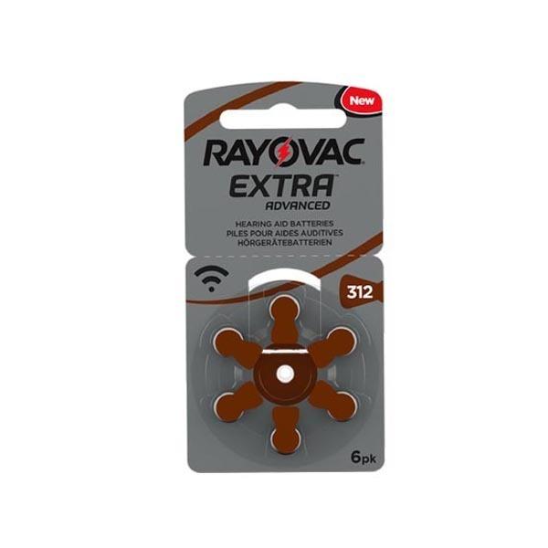 Pilas 312 Rayovac para audífonos color marrón
