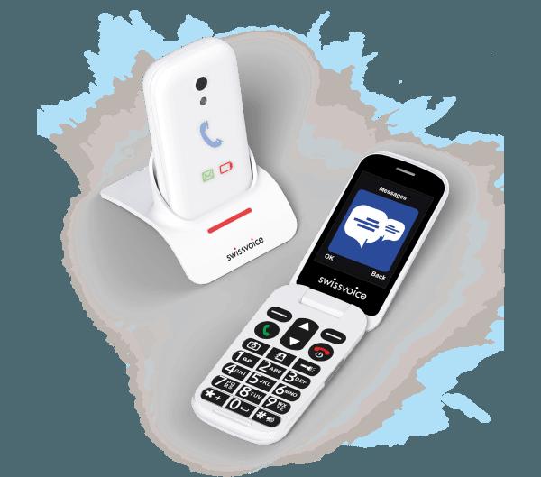 teléfono para mayores swissvoice s28 blanco