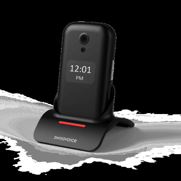 Teléfono móvil para mayores Swissvoice D28 negro