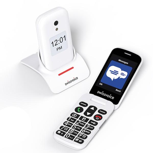 Teléfono para mayores Swissvoice D28 blanco