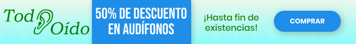 Banner Oferta 50% descuento audífonos