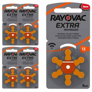 30 Pilas para audífonos Rayovac Extra Advanced 13 naranja