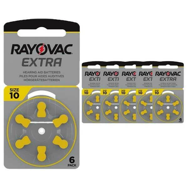 30 Pilas 10 Amarilla Rayovac Extra.