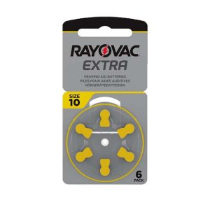 6 pilas 10 Amarilla Rayovac Extra.